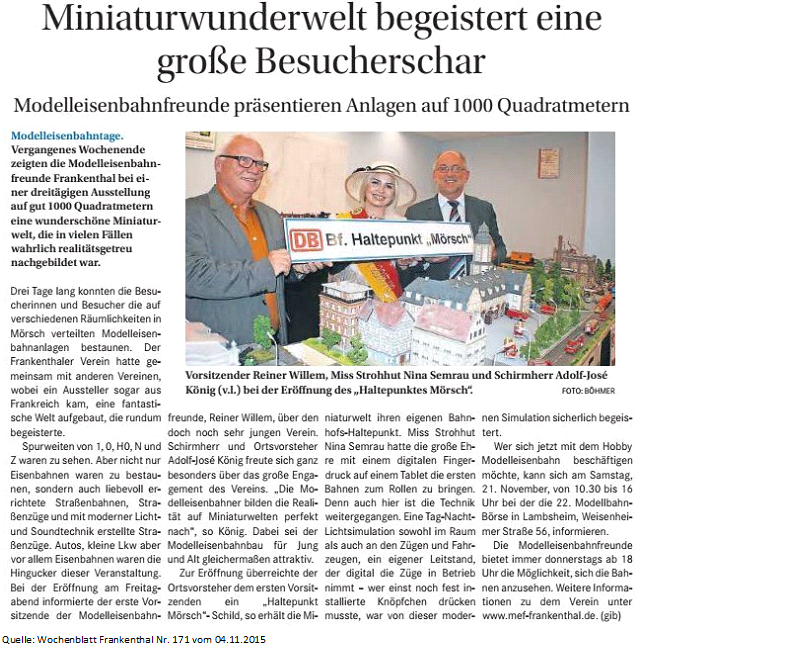 Wochenblatt Nr. 171 vom 04-11-2015